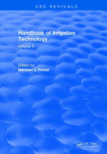 Handbook of Irrigation Technology Volume 2 book cover