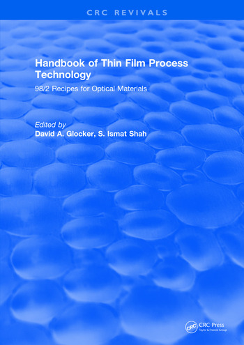 Handbook of Thin Film Process Technology 98/2 Recipes for Optical Materials book cover
