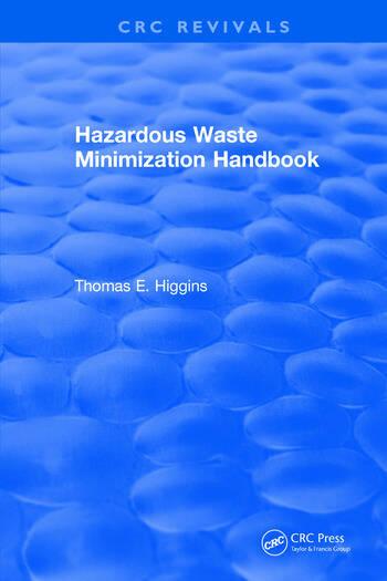 Hazardous Waste Minimization Handbook book cover