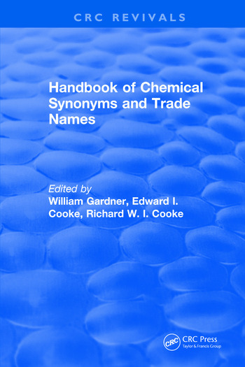 Handbook of Chemical Synonyms and Trade Names book cover