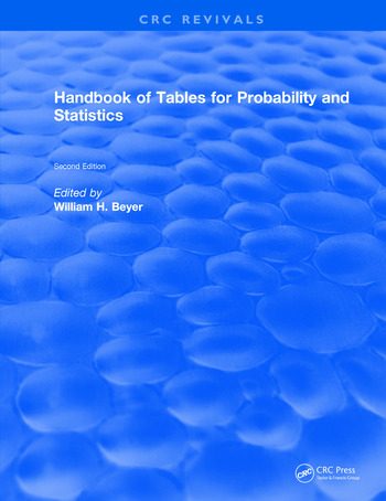 Handbook of Tables for Probability and Statistics book cover