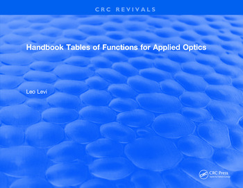Handbook Tables of Functions for Applied Optics book cover