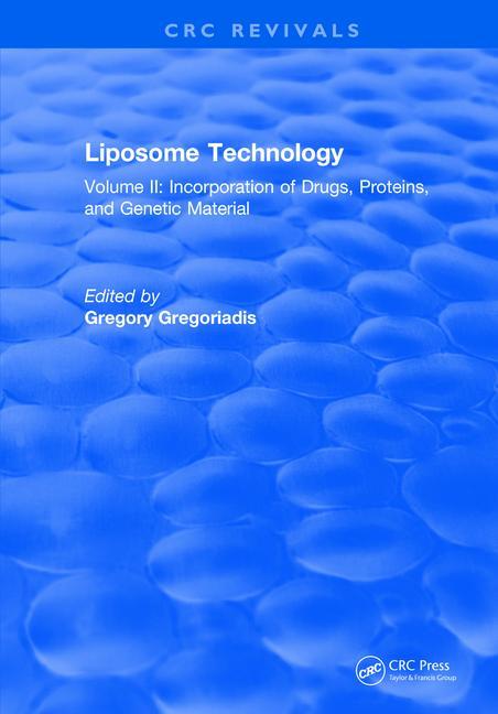 Liposome Technology Volume II book cover