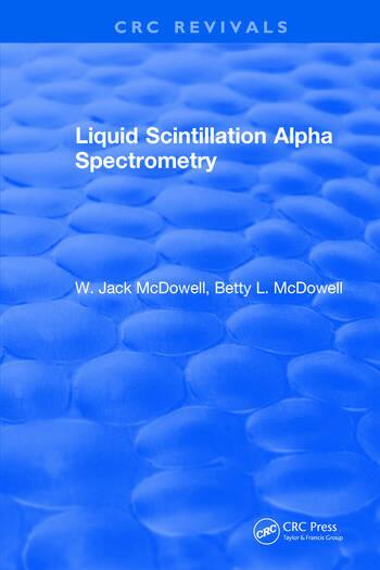 Liquid Scintillation Alpha Spectrometry book cover