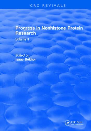 Progress in Nonhistone Protein Research Volume II book cover
