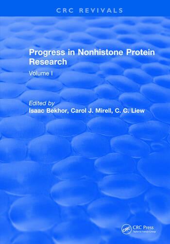 Progress in Nonhistone Protein Research Volume I book cover