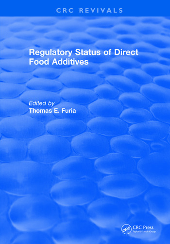Regulatory Status Of Direct Food Additives book cover