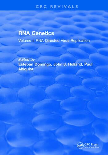 RNA Genetics Volume I: RNA-Directed Virus Replication book cover