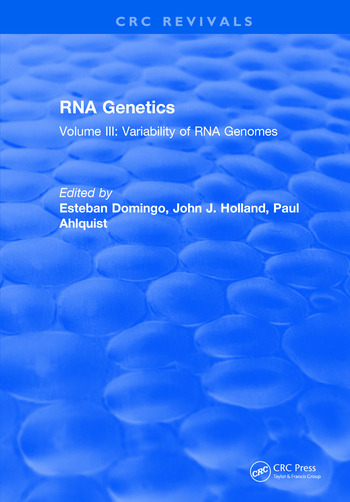 RNA Genetics Volume III: Variability of RNA Genomes book cover