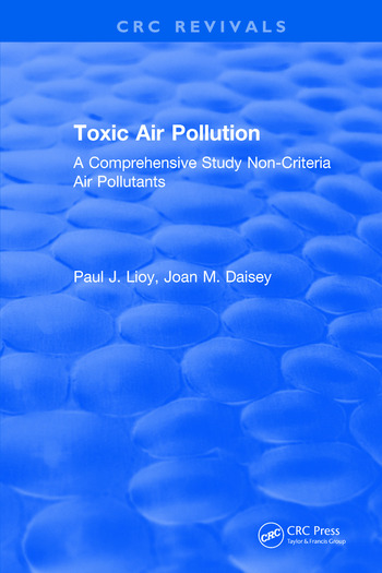 Toxic Air Pollution A Comprehensive Study Non-Criteria Air Pollutants book cover