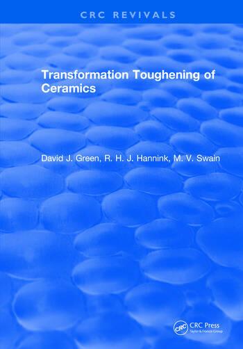 Transformation Toughening Of Ceramics book cover