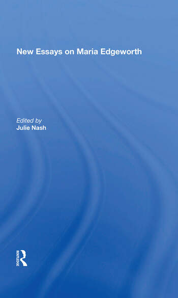 New Essays on Maria Edgeworth book cover