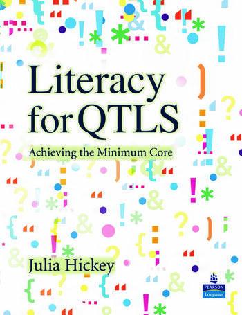 Literacy for QTLS Achieving the Minimum Core book cover