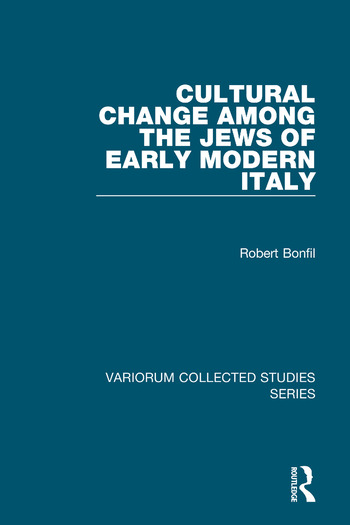 Cultural Change Among the Jews of Early Modern Italy book cover