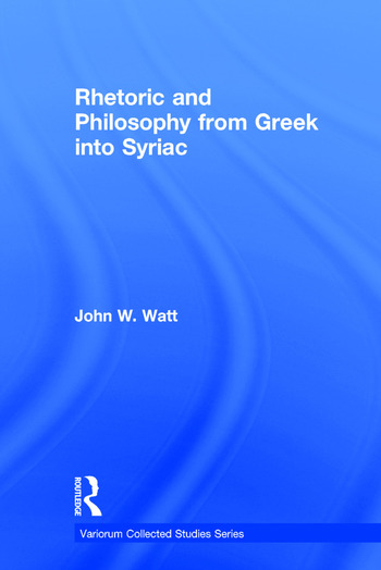 Rhetoric and Philosophy from Greek into Syriac book cover