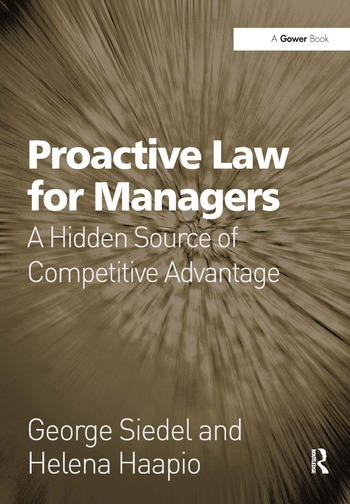 Proactive Law for Managers A Hidden Source of Competitive Advantage book cover