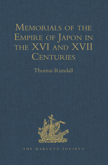 Memorials of the Empire of Japon in the XVI and XVII Centuries book cover