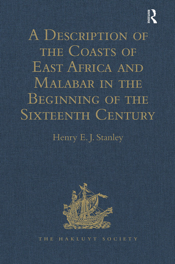 A Description of the Coasts of East Africa and Malabar in the Beginning of the Sixteenth Century, by Duarte Barbosa, a Portuguese book cover