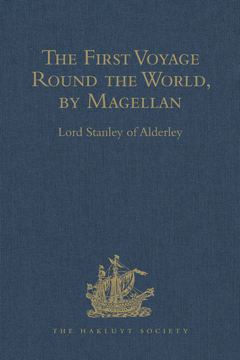The First Voyage Round the World, by Magellan book cover