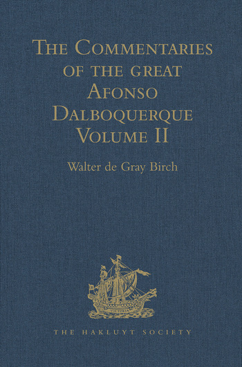 The Commentaries of the Great Afonso Dalboquerque Volume II book cover