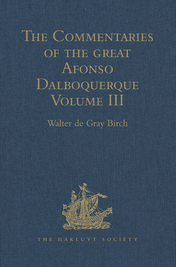 The Commentaries of the Great Afonso Dalboquerque Volume III book cover