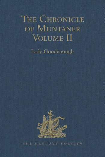 The Chronicle of Muntaner Volume II book cover