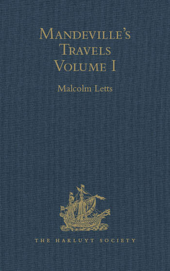Mandeville's Travels Texts and Translations, Volume I book cover
