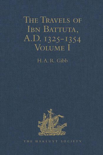 The Travels of Ibn Battuta, A.D. 1325-1354 Volume I book cover