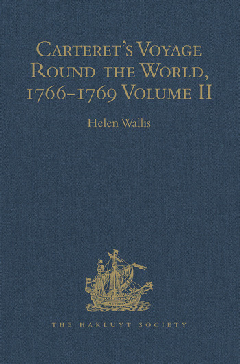 Carteret's Voyage Round the World, 1766-1769 Volume II book cover