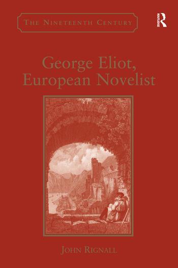 George Eliot, European Novelist book cover