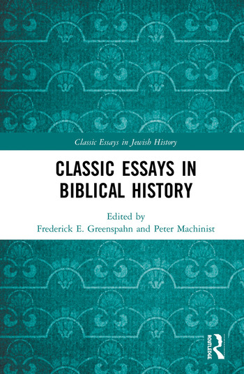 Classic Essays in Biblical History book cover