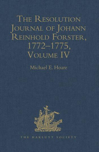 The Resolution Journal of Johann Reinhold Forster, 1772–1775 Volume IV book cover