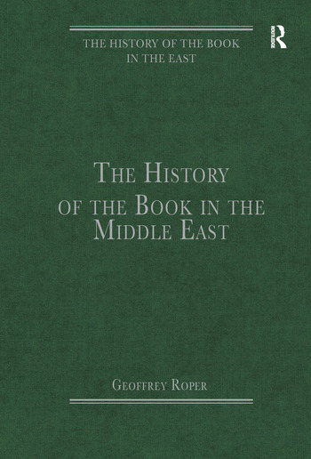 The History of the Book in the Middle East book cover