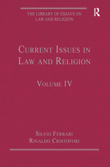 Current Issues in Law and Religion Volume IV book cover