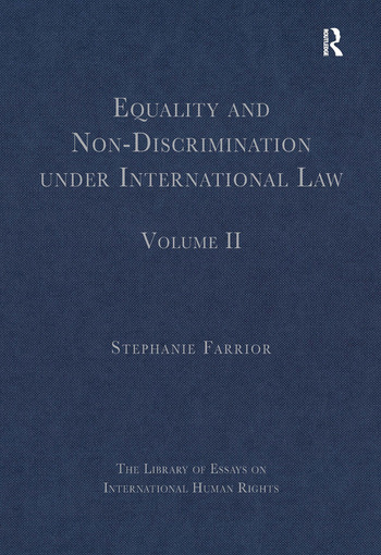 Equality and Non-Discrimination under International Law Volume II book cover