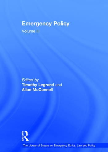 Emergency Policy Volume III book cover