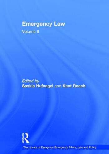 Emergency Law Volume II book cover