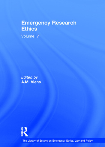 Emergency Research Ethics Volume IV book cover