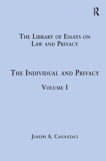 The Individual and Privacy Volume I book cover