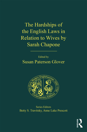 The Hardships of the English Laws in Relation to Wives by Sarah Chapone book cover