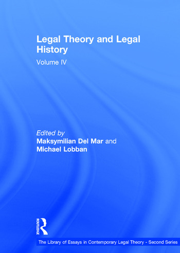 Legal Theory and Legal History Volume IV book cover
