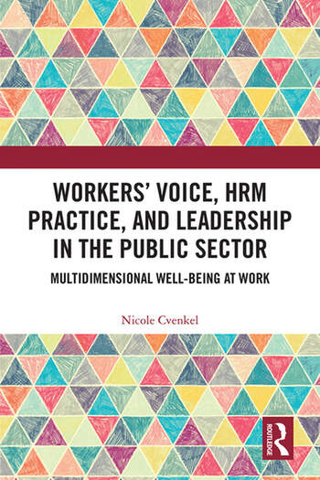 Workers' Voice, HRM Practice, and Leadership in the Public Sector Multidimensional Well-Being at Work book cover