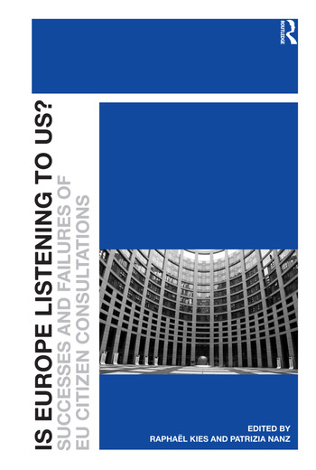 Is Europe Listening to Us? Successes and Failures of EU Citizen Consultations book cover