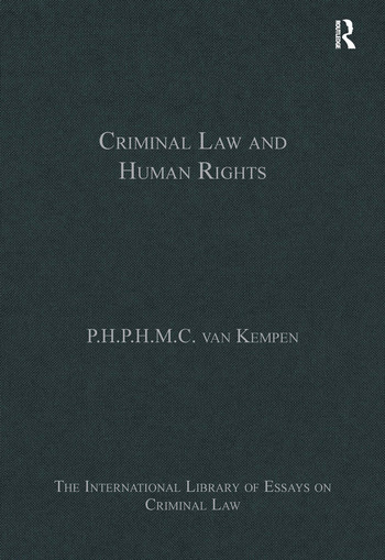 Criminal Law and Human Rights book cover