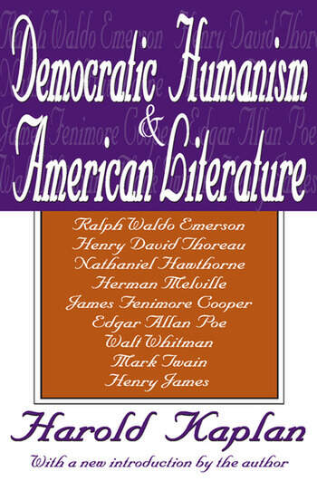 Democratic Humanism and American Literature book cover