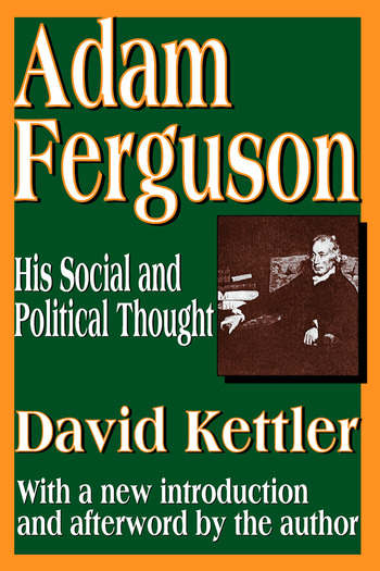 Adam Ferguson His Social and Political Thought book cover