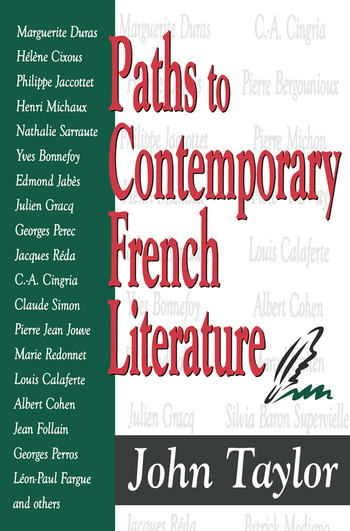 Paths to Contemporary French Literature Volume 1 book cover