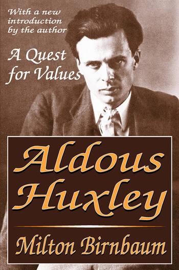 Aldous Huxley A Quest for Values book cover