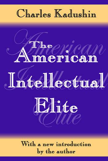 The American Intellectual Elite book cover