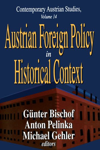 Austrian Foreign Policy in Historical Context book cover